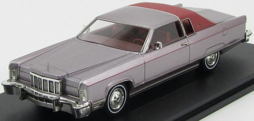 GLM101601 GLM GLM 1/43 LINCOLN Continental Coupe 1976 silver